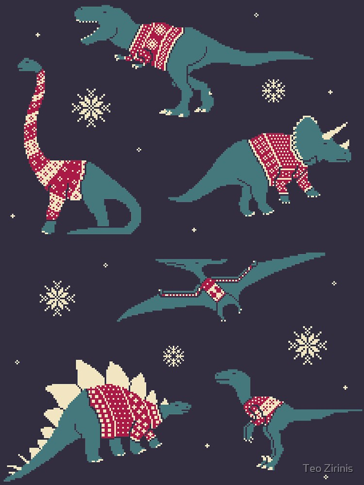 Dinos In Sweaters by theodorezirinis