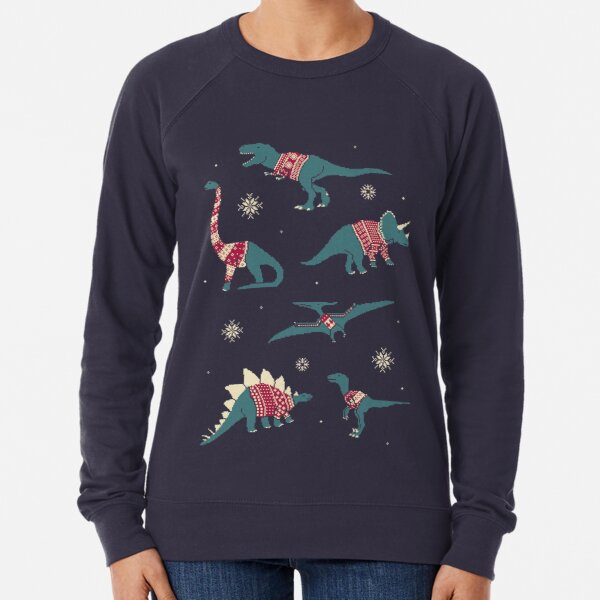 Dinos In Sweaters Lightweight Sweatshirt