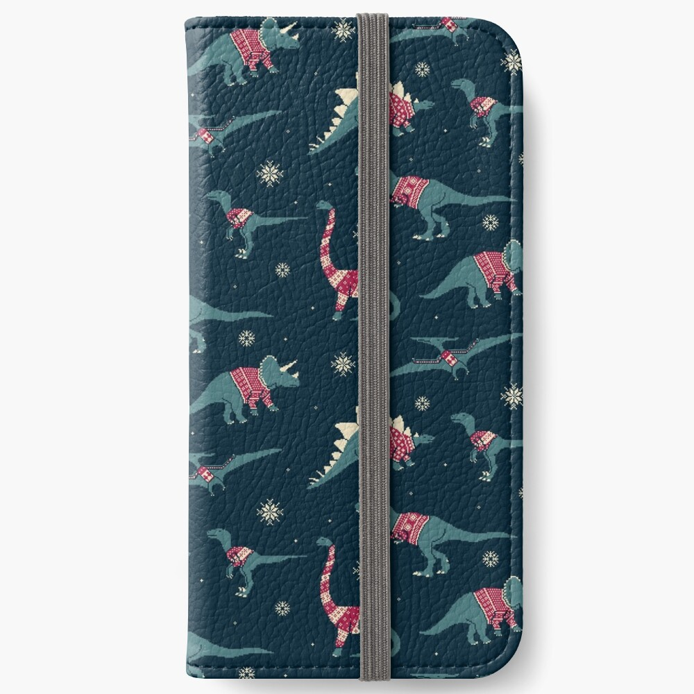 Dinos In Sweaters iPhone Wallet