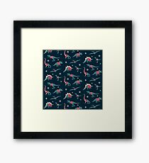 Dinos In Sweaters Framed Print
