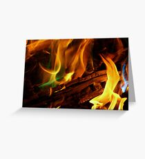 Magical Flames Greeting Card