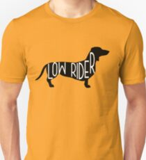 Funny Dachshund Dog Design - Low Rider T-Shirt