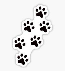 Animal track sticker with black paw prints Sticker