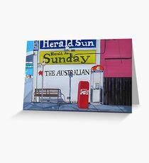 Newspapers Greeting Card