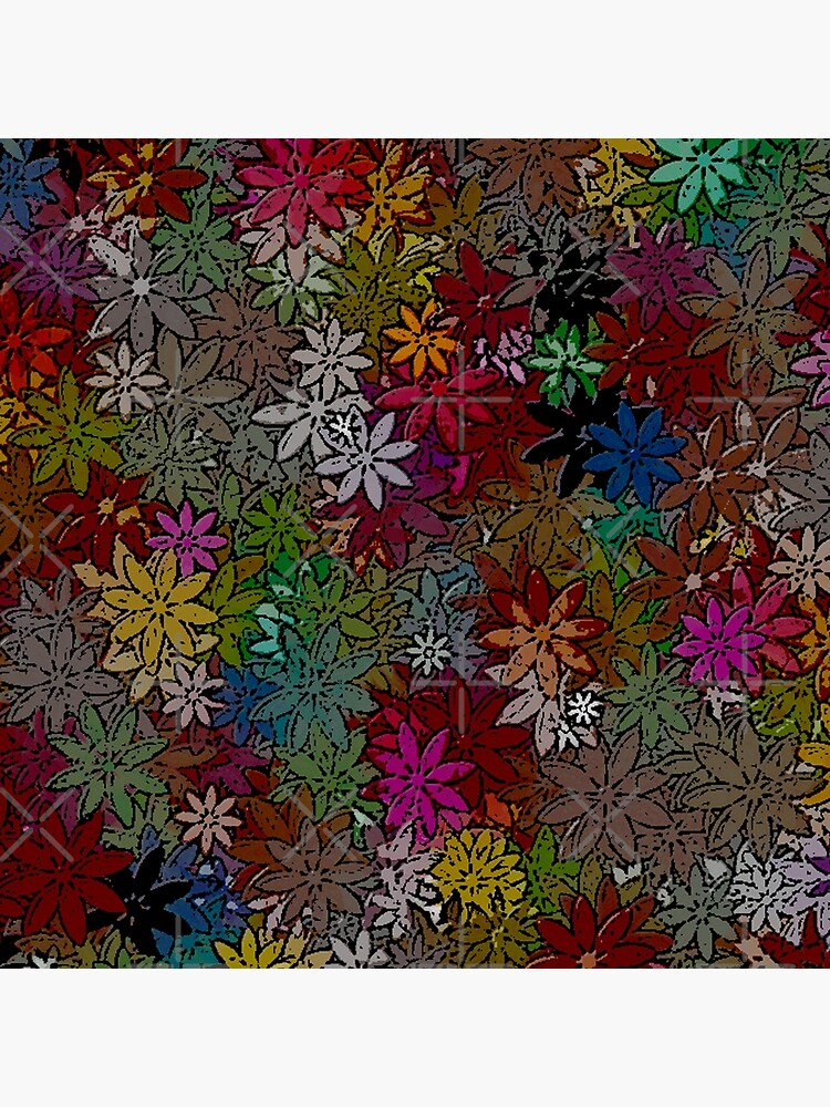 MULTICOLOR FLORAL PATTERN WITH HUNDREDS OF FLOWERS BY OZCUSHIONSTOO by ozcushionstoo