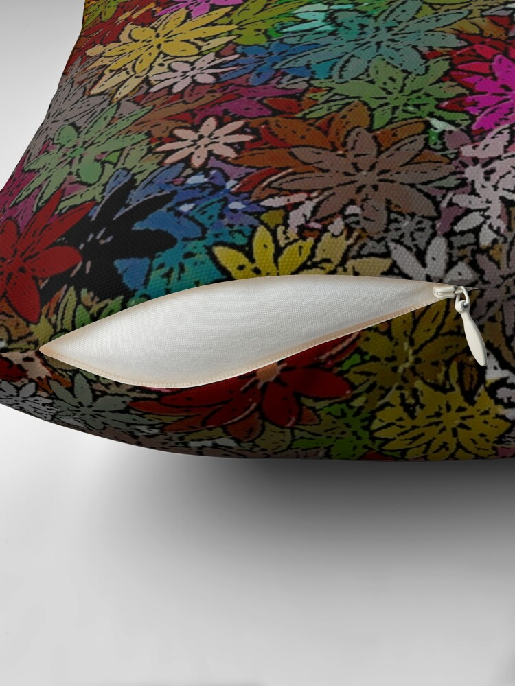 Alternate view of MULTICOLOR FLORAL PATTERN WITH HUNDREDS OF FLOWERS BY OZCUSHIONSTOO Throw Pillow