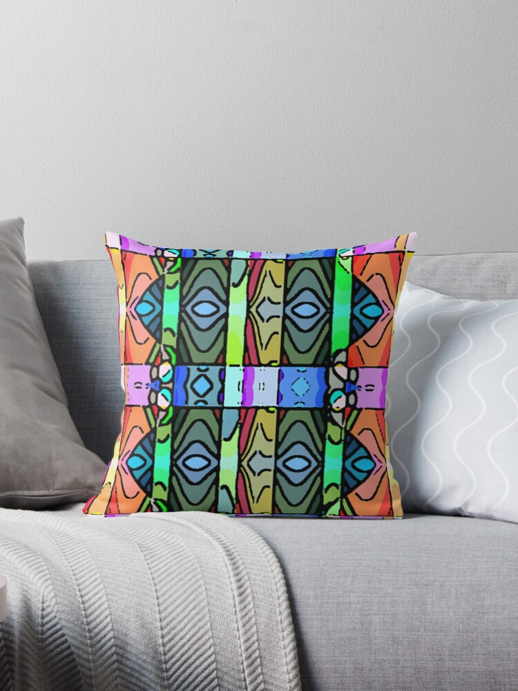 Beautiful Cushions/ Pattern Coral Lines by ozcushionstoo