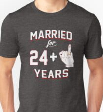 Funny 25th Wedding Anniversary Couples Ring Finger T-Shirt