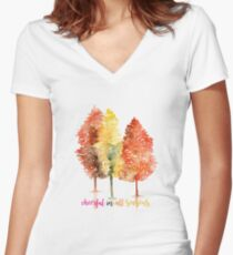 Cheerful in all seasons T-Shirt Women's Fitted V-Neck T-Shirt