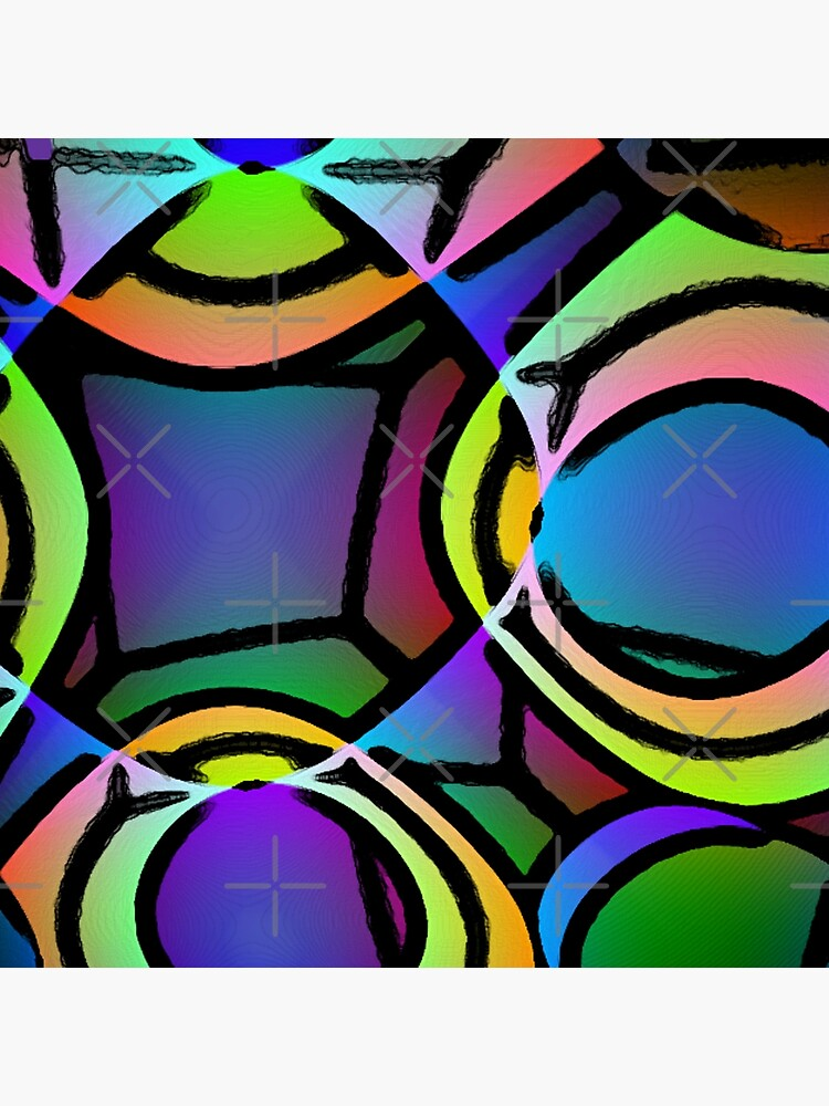 BIG BRIGHT MUTICOLOR NEON ABSTRACT POP ART STYLE PATTERN FOR HOME DECOR AND CLOTHING by ozcushionstoo