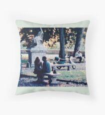 Roman Romance in the Pincio Promenade Throw Pillow