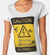 Caution Women's Premium T-Shirt