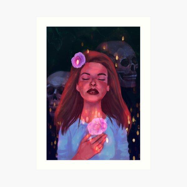 Halloween Skull Girl Art Print