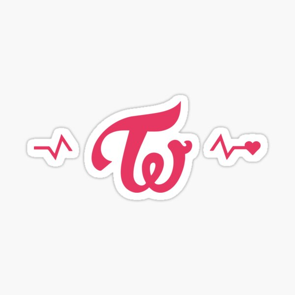 TWICE Signal Logotipo Pegatina