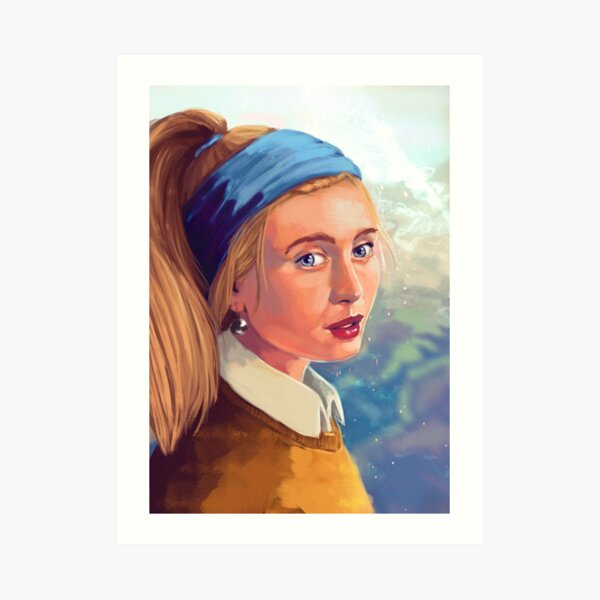 Girl with Pearl – Modern – Gaze Art Print