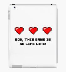 Gaming funny pixel art iPad Case/Skin