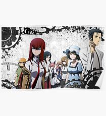 Steins Gate characters Poster