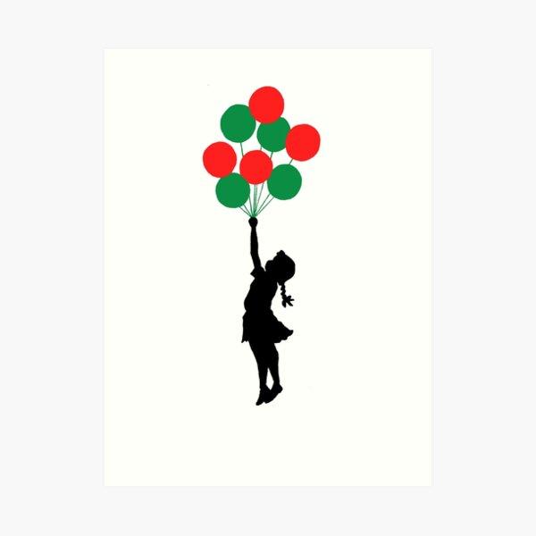 Balloons Girl Art Print