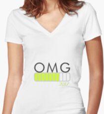 OMG Women's Fitted V-Neck T-Shirt