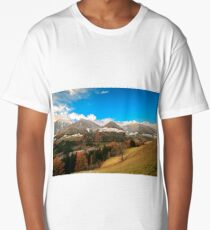 colorful sunset in the Valle Aurina Long T-Shirt