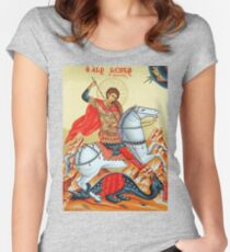 Saint George Painting Women's Fitted Scoop T-Shirt
