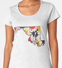 Maryland Paint Splatter Women's Premium T-Shirt