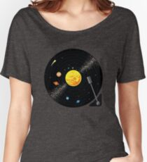 Solar System Vinyl Record Women's Relaxed Fit T-Shirt