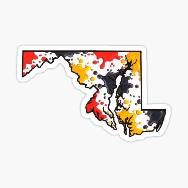Maryland Paint Splatter Sticker