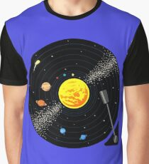 Solar System Vinyl Record Graphic T-Shirt
