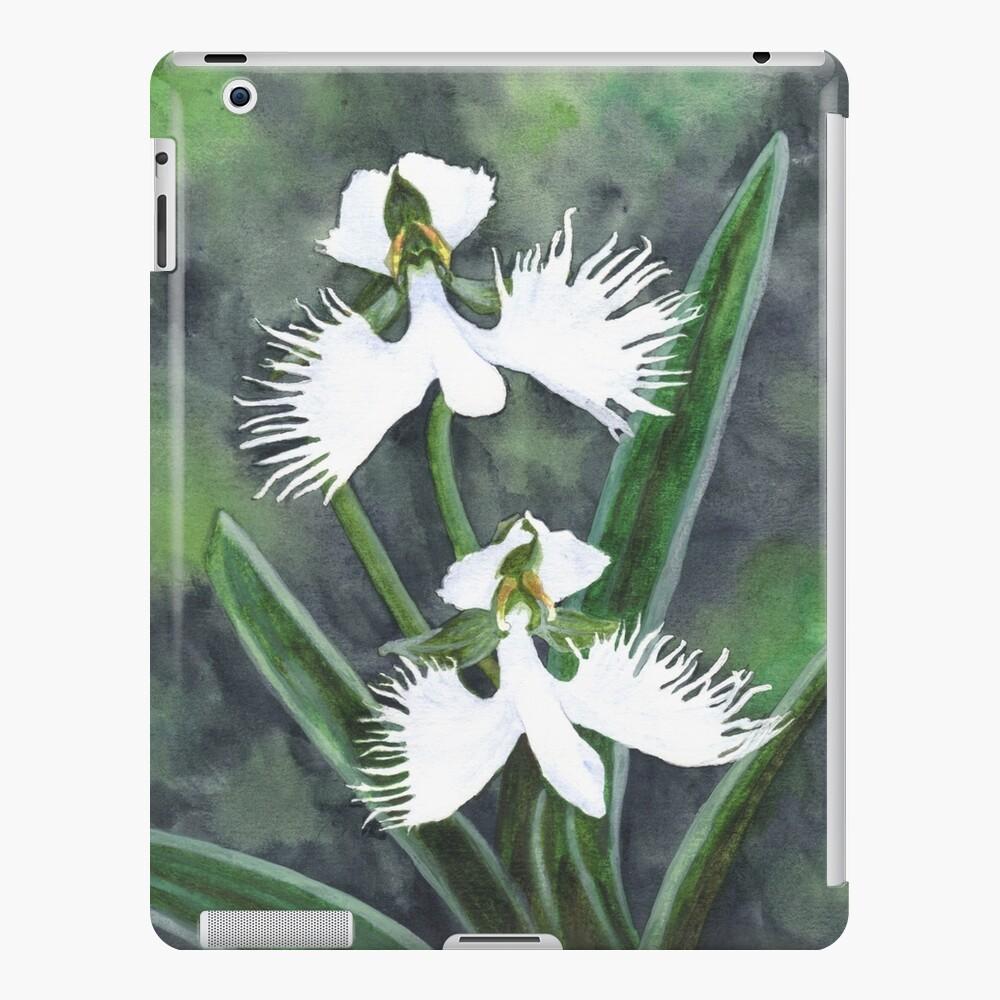 Weiße Reiher Orchideenblüten (Habenaria Radiata) iPad-Hülle & Skin
