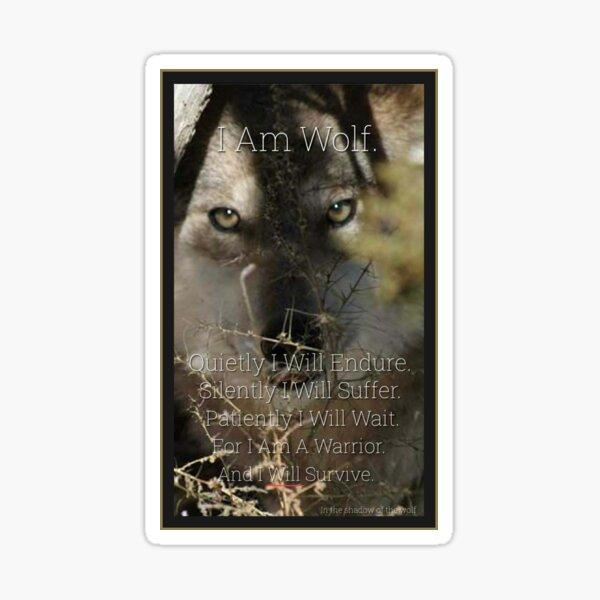 I Am Wolf Sticker