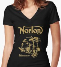 norton motorcycle Women's Fitted V-Neck T-Shirt