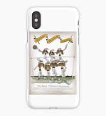 Vintage Football Red White Stripe Defence iPhone Case/Skin