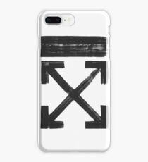 Off white Brushed arrows iPhone 8 Plus Case