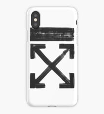 Off white Brushed arrows iPhone Case/Skin
