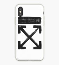 Off white Brushed arrows iPhone Case
