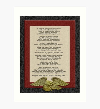 Lebe dein Leben, Chief Tecumseh Kunstdruck