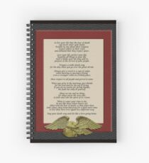 Live your life, Chief Tecumseh Spiral Notebook