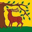 Berkshire Flag Stickers by mpodger