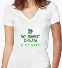 My Dream To Sleep Women's Fitted V-Neck T-Shirt