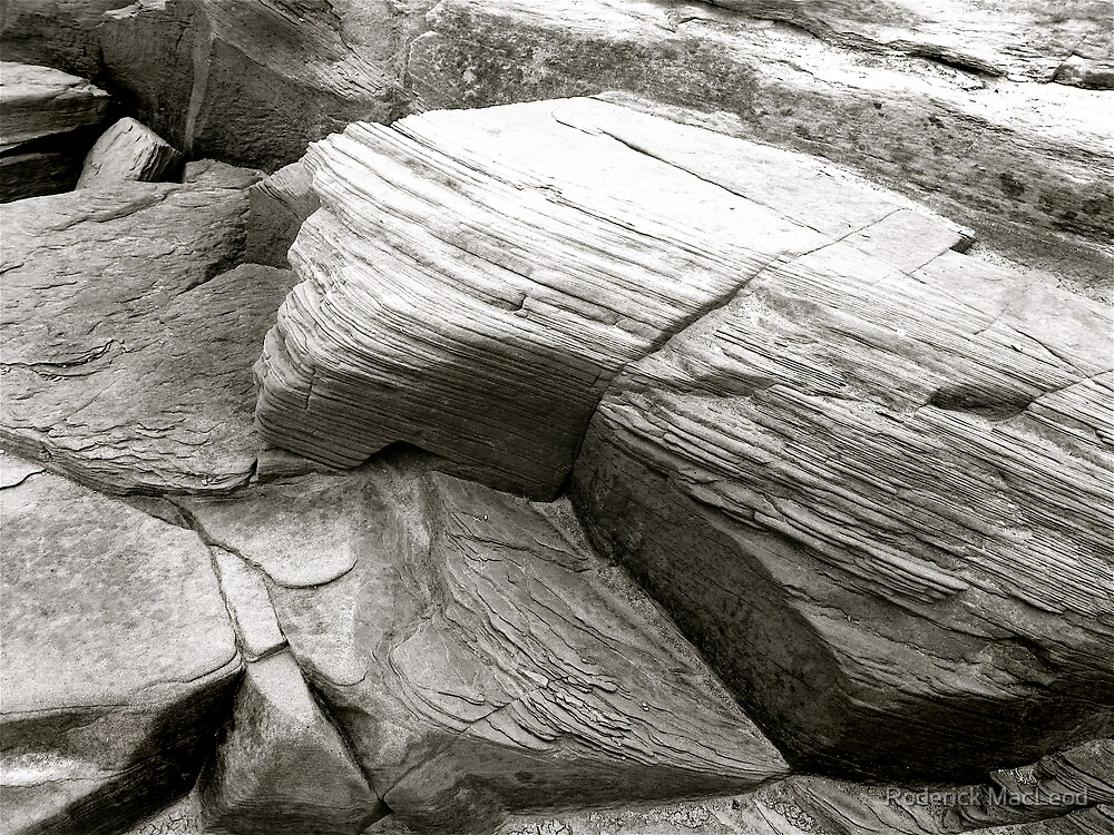 Rock I - Black and White by Roderick MacLeod