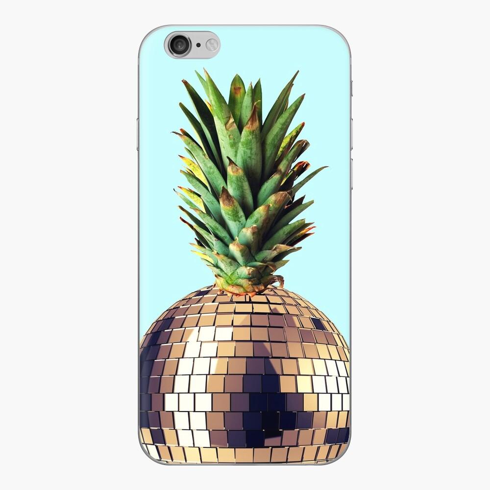 Ananas Party (Ananas) blaue Version iPhone Klebefolie