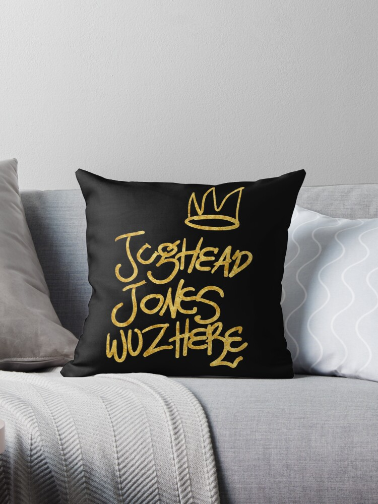 Jughead Jones Was Here Riverdale Throw Pillows By Nazeli Redbubble Interesting Riverdale Decorative Pillows