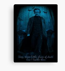 Edgar Allan Poe Little Slices of Death  Canvas Print