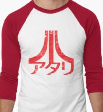 Atari Logo アタリ Men's Baseball ¾ T-Shirt