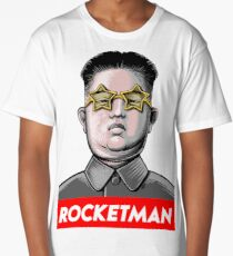 Rocket man Kim Jong-Un Donald Trump RocketMan T Shirt Long T-Shirt