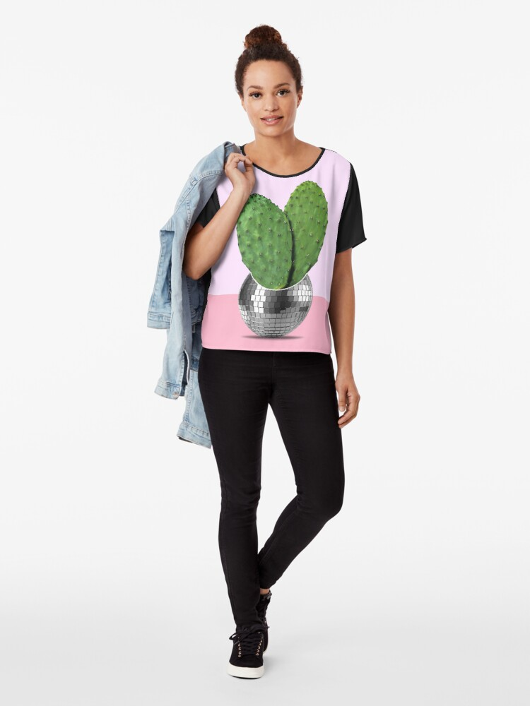 Alternate view of Cactus disco party Chiffon Top