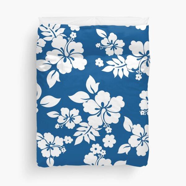 Hawaiian Pattern - Blue Duvet Cover