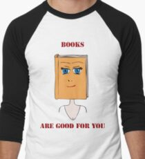 Books Are Good For You Men's Baseball ¾ T-Shirt