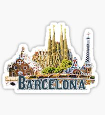 Barcelona Espagna Spain Sticker